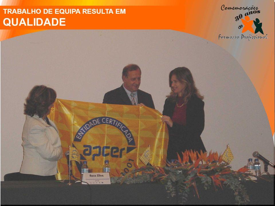 TRABALHO DE EQUIPA RESULTA EM QUALIDADE