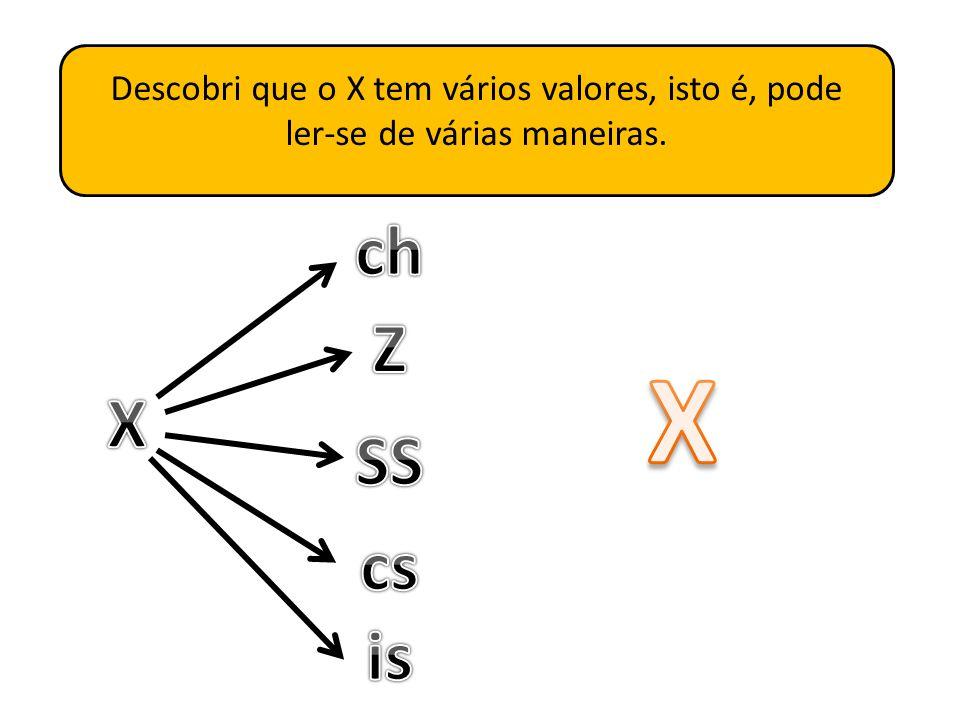 Eu não sabia, mas como queria ajudar a princesa tive de estudar muito a letra X.