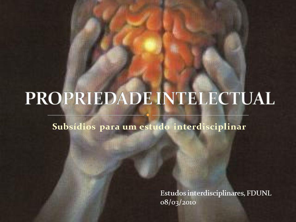 Subsídios para um estudo interdisciplinar Estudos interdisciplinares, FDUNL 08/03/2010