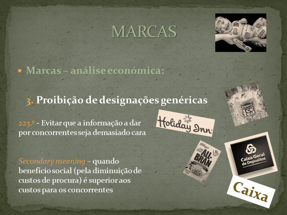 Marcas – análise económica: 3.
