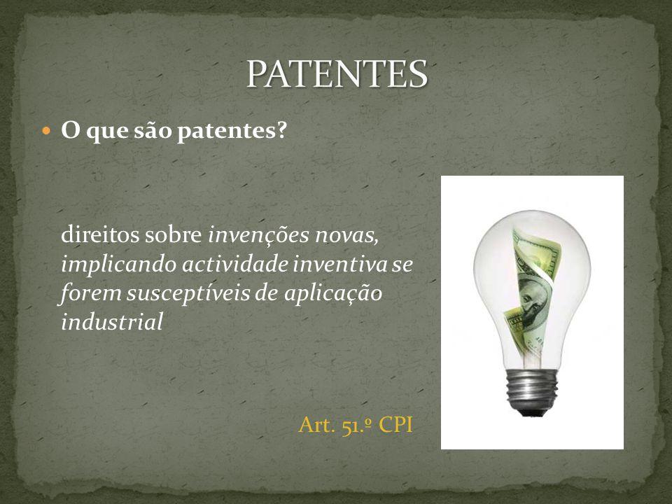 O que são patentes.