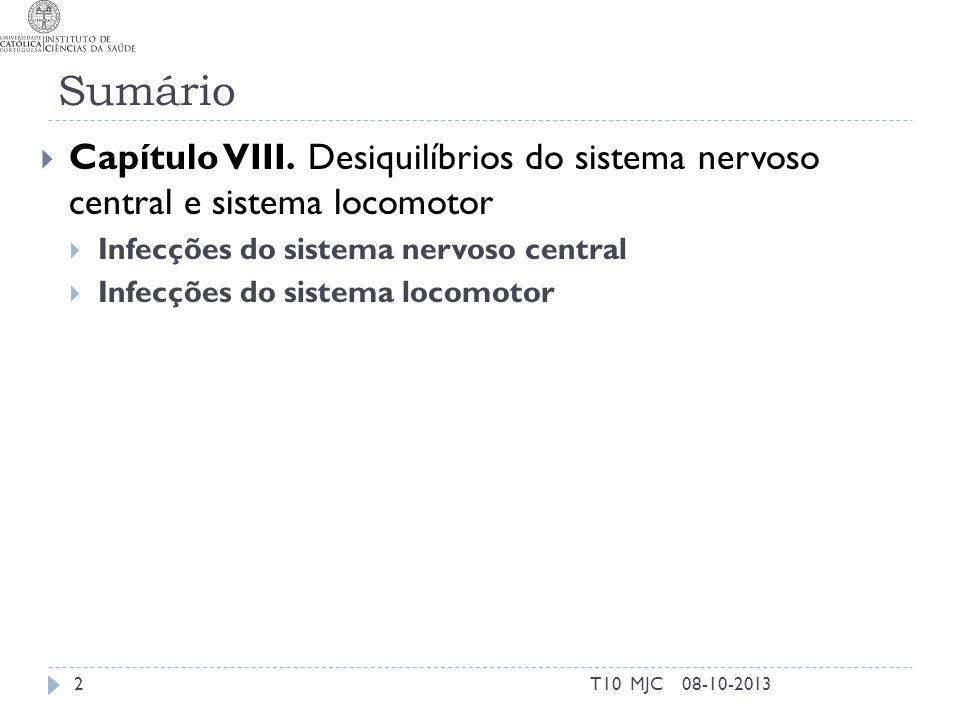 Sinais clínicos Edema Vermelhidão Dor 08-10-201323T10 MJC