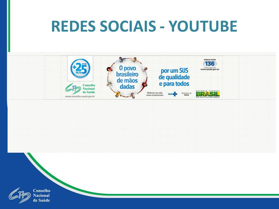 REDES SOCIAIS - YOUTUBE
