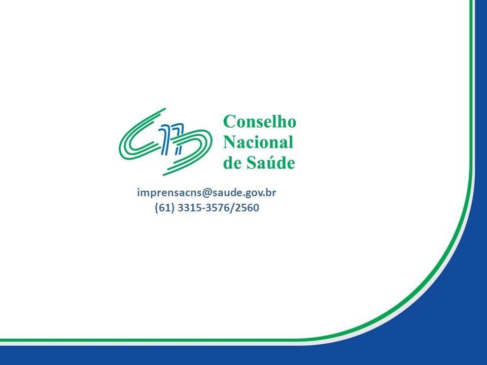 imprensacns@saude.gov.br (61) 3315-3576/2560