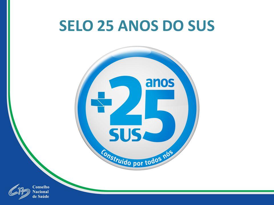 SELO 25 ANOS DO SUS