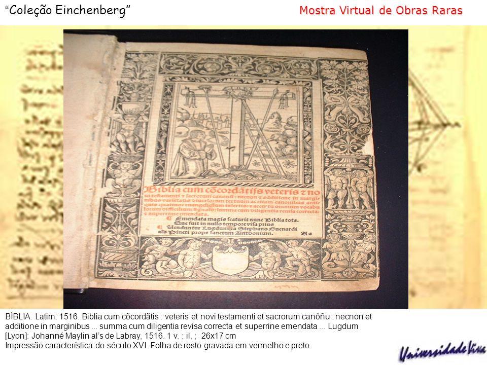 Mostra Virtual de Obras Raras Coleção Einchenberg Mostra Virtual de Obras Raras ANTONIL, André João, 1649-1716.