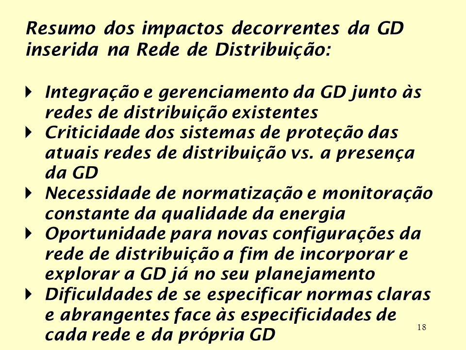 18 Integração e gerenciamento da GD junto às redes de distribuição existentesIntegração e gerenciamento da GD junto às redes de distribuição existente