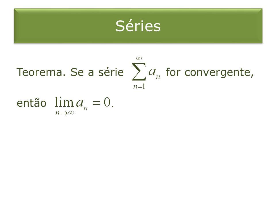 O Teste da Integral Suponha que seja contínua, positiva e decrescente em e seja Então, a série é convergente a integral imprópria é convergente.