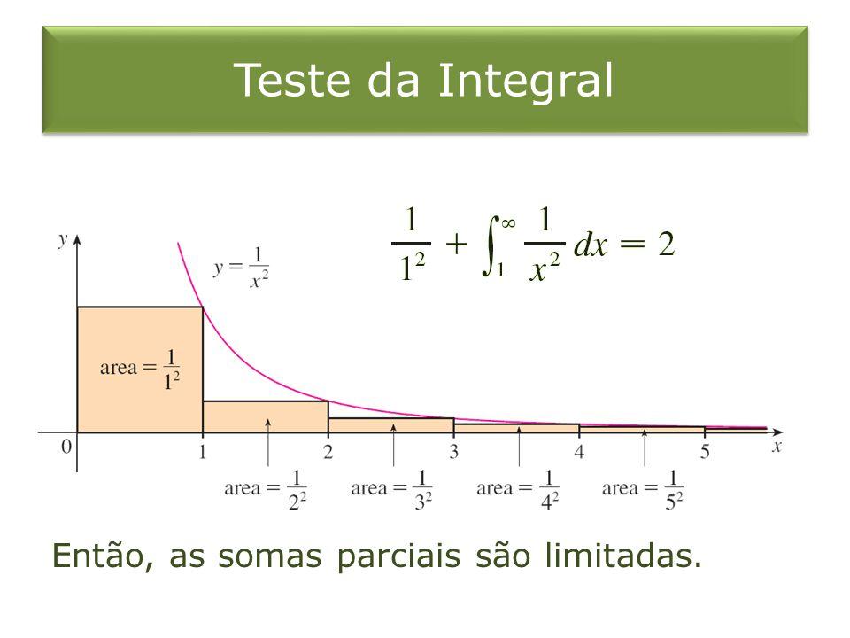Teste da Integral Então, as somas parciais são limitadas.