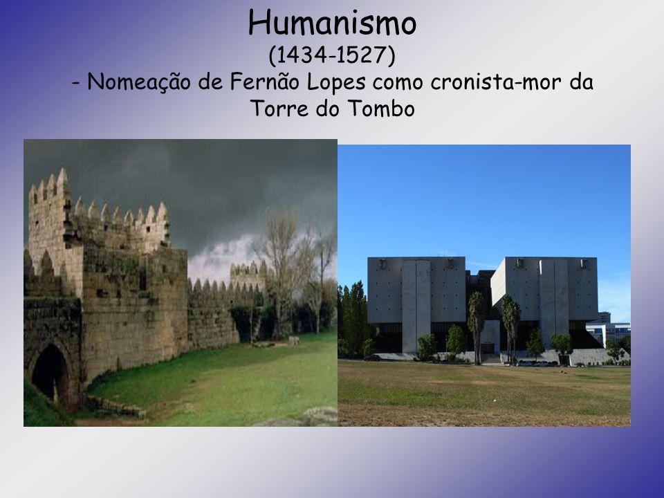 Humanismo (1434-1527) - Nomeação de Fernão Lopes como cronista-mor da Torre do Tombo
