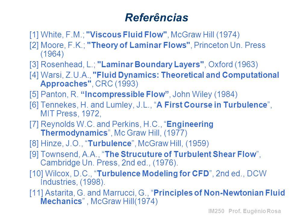 IM250 Prof. Eugênio Rosa Referências [1] White, F.M.;