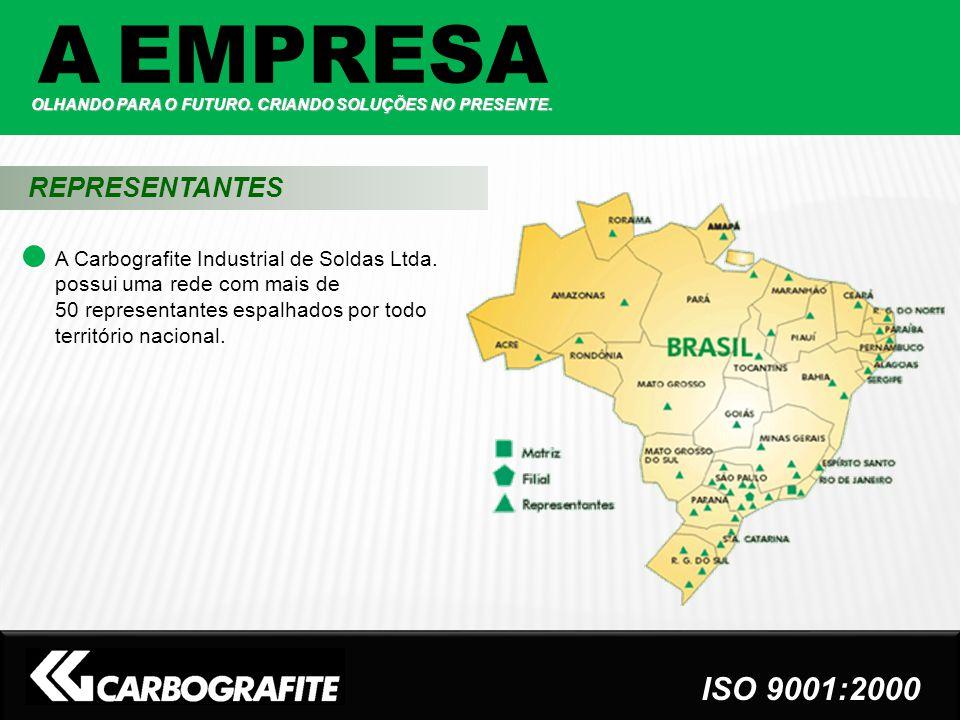 A Carbografite Industrial de Soldas Ltda. possui uma rede com mais de 50 representantes espalhados por todo território nacional. REPRESENTANTES A EMPR