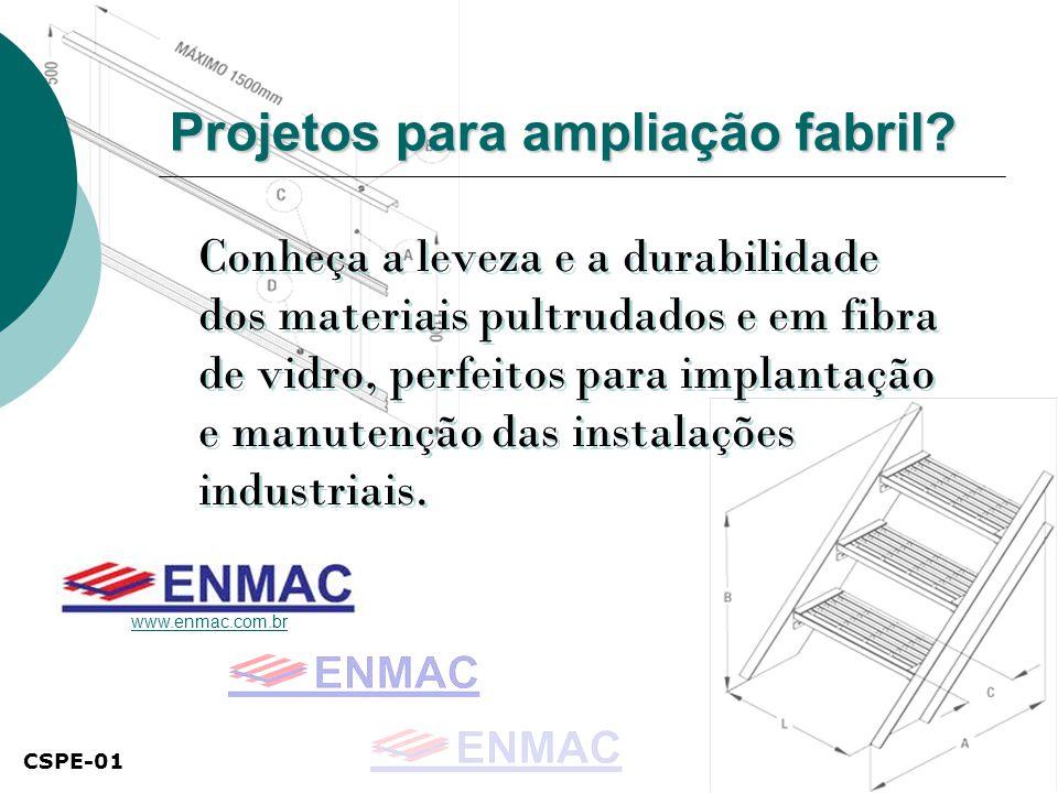 Projetos para ampliação fabril.