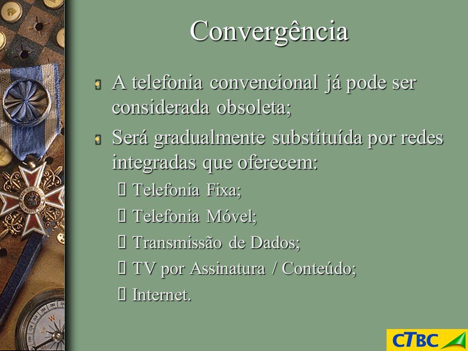 Convergência A telefonia convencional já pode ser considerada obsoleta; A telefonia convencional já pode ser considerada obsoleta; Será gradualmente s