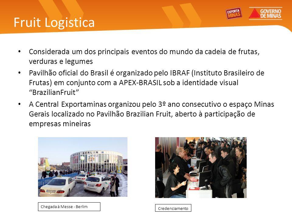 Fruit Logistica Considerada um dos principais eventos do mundo da cadeia de frutas, verduras e legumes Pavilhão oficial do Brasil é organizado pelo IB