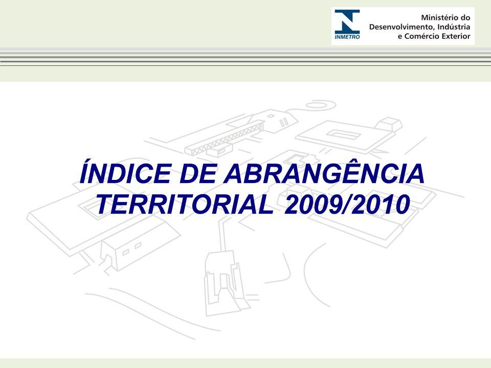 ÍNDICE DE ABRANGÊNCIA TERRITORIAL 2009/2010