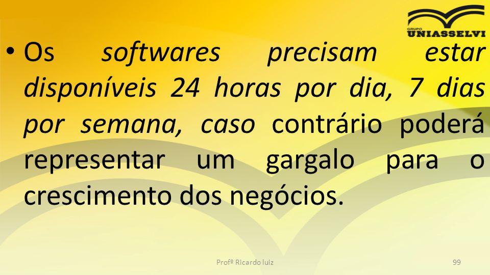 Os softwares precisam estar disponíveis 24 horas por dia, 7 dias por semana, caso contrário poderá representar um gargalo para o crescimento dos negóc