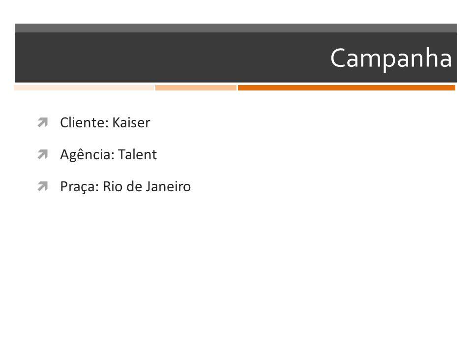 Campanha Cliente: Kaiser Agência: Talent Praça: Rio de Janeiro