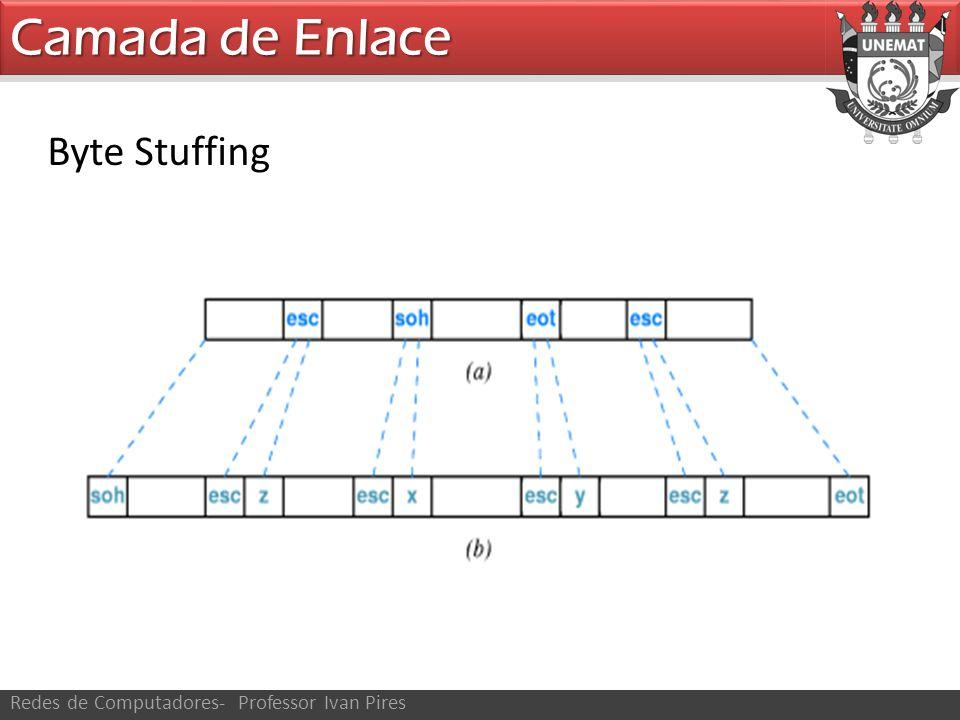 Camada de Enlace Redes de Computadores- Professor Ivan Pires Byte Stuffing