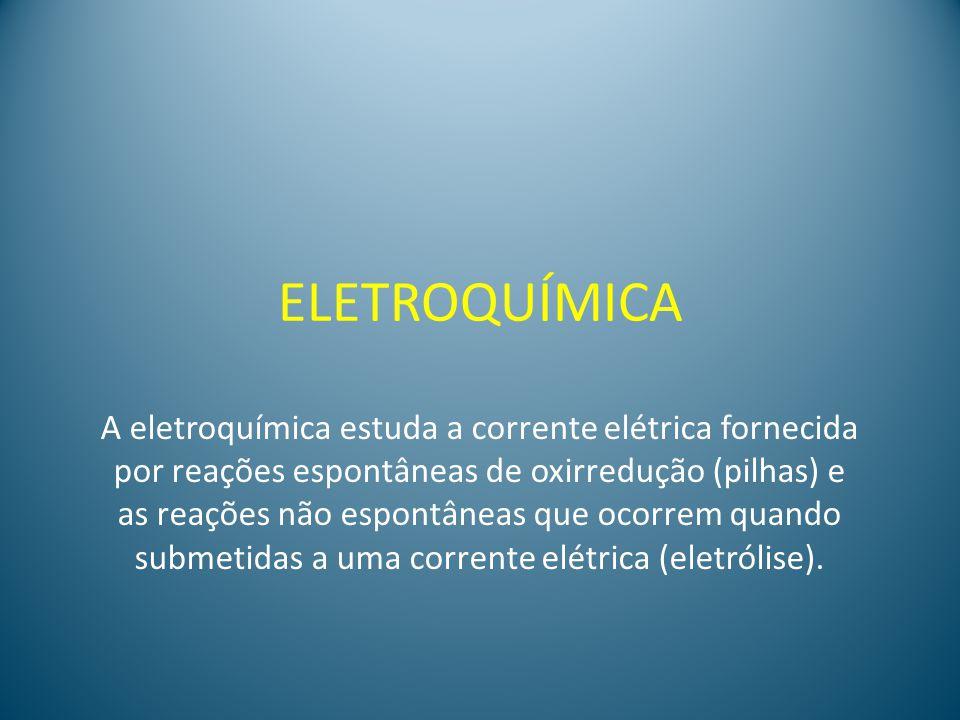 PILHA: é um dispositivo que fornece corrente elétrica por meio de uma reação química de oxirredução espontânea.