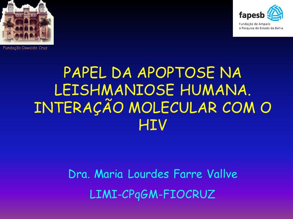 PAPEL DA APOPTOSE NA LEISHMANIOSE HUMANA. INTERAÇÃO MOLECULAR COM O HIV Dra. Maria Lourdes Farre Vallve LIMI-CPqGM-FIOCRUZ Fundação Oswaldo Cruz