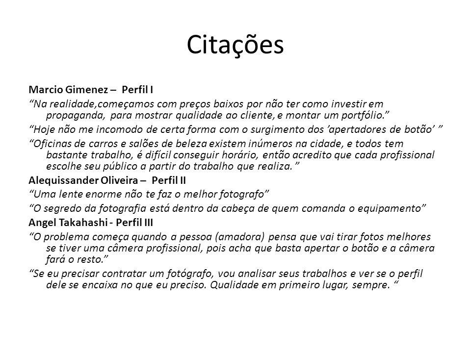 Citações Bernardo Coelho – Perfil II Mas existe um ponto em que todos os apaixonados pela arte devem lembrar, que fotografia é NEGÓCIO.
