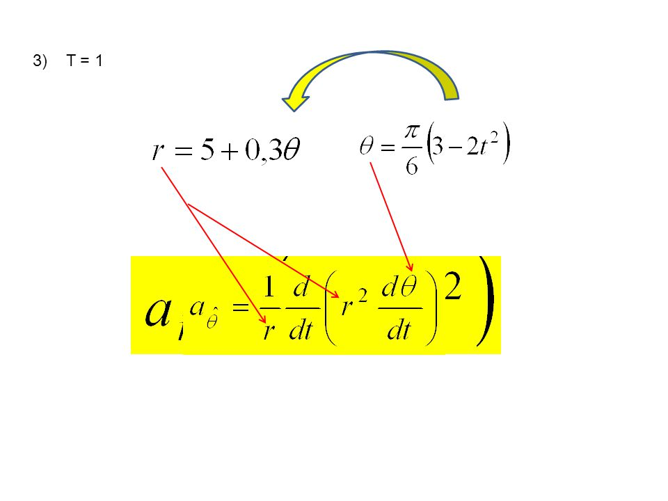 3) T = 1