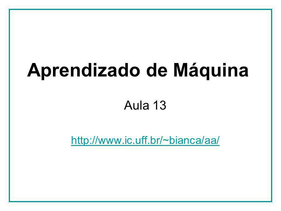 Aprendizado de Máquina Aula 13 http://www.ic.uff.br/~bianca/aa/