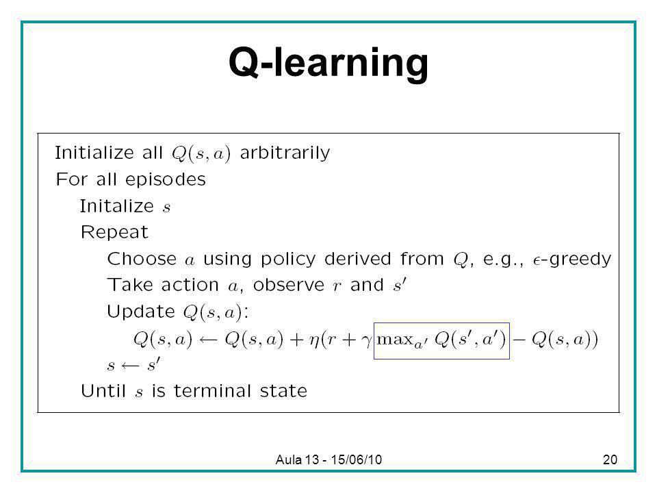 Aula 13 - 15/06/1020 Q-learning