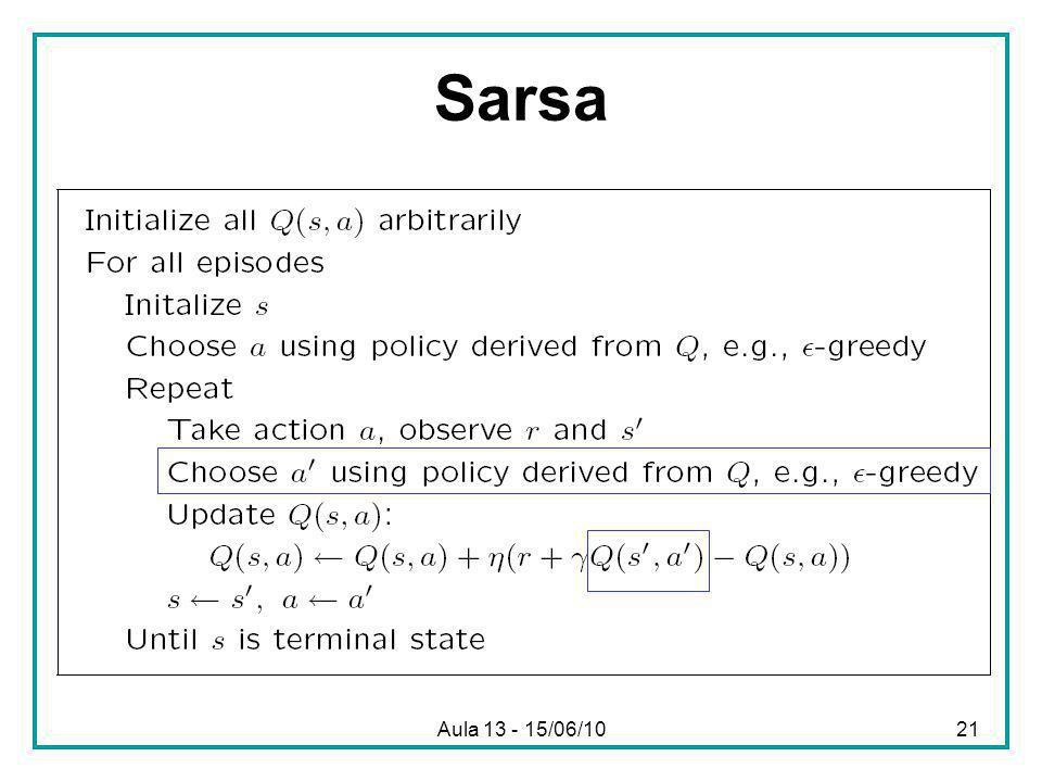 Aula 13 - 15/06/1021 Sarsa