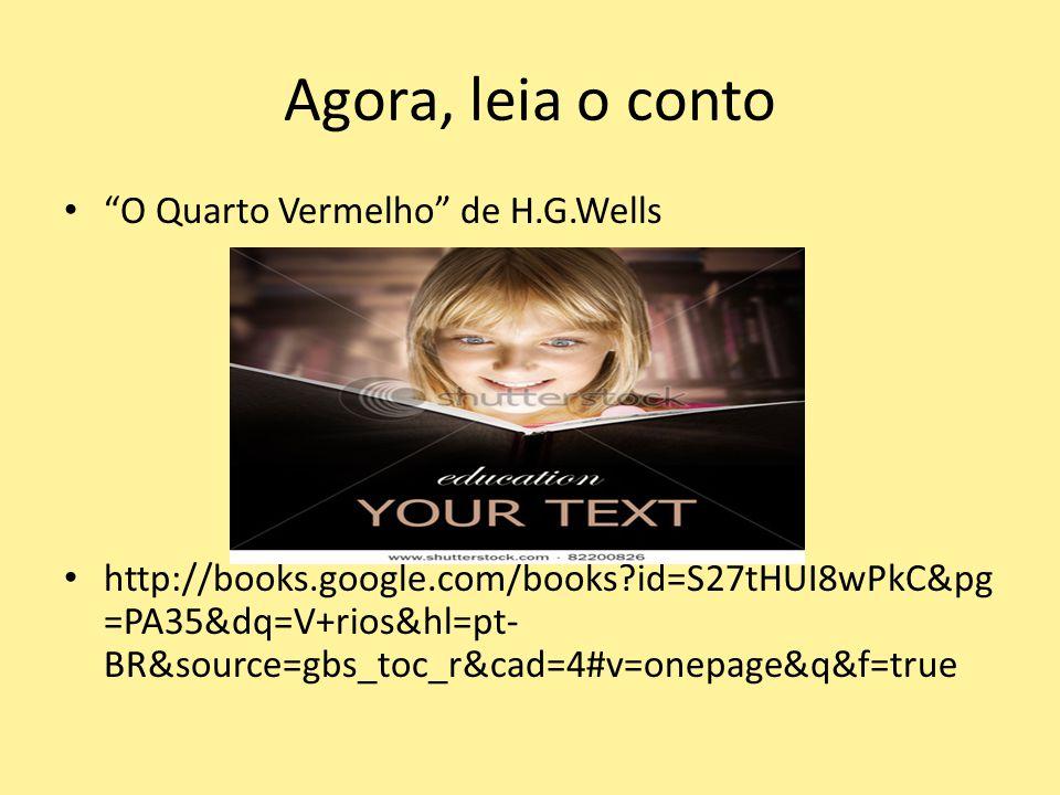 Agora, leia o conto O Quarto Vermelho de H.G.Wells http://books.google.com/books?id=S27tHUI8wPkC&pg =PA35&dq=V+rios&hl=pt- BR&source=gbs_toc_r&cad=4#v