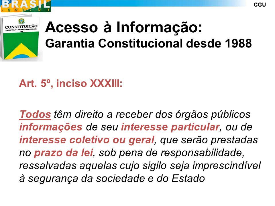 CGU LAI - Lei n.º 12.527/2011 PRINCIPAIS ASPECTOS DA LEI