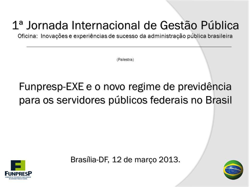1ª Jornada Internacional de Gestão Pública Oficina: Inovações e experiências de sucesso da administração pública brasileira (Palestra) Funpresp-EXE e