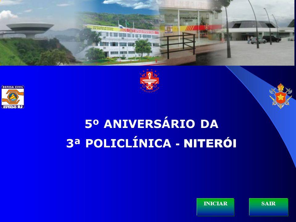 HISTÓRICO 3ª POLICLÍNICA / HINO NACIONAL ESTRUTURA ORGANIZACIONAL SESDEC / 3ª POLICLÍNICA ARTIGOS DE SAÚDE PROGRAMAS DE SAÚDE AÇÕES SÓCIOAMBIENTAIS EFETIVO – FOTOS SERVIÇOS E SETORES – FOTOS HISTÓRICO PQ-RIO VÍDEO INSTITUCIONAL / HINO SOLDADO DO FOGO Sair