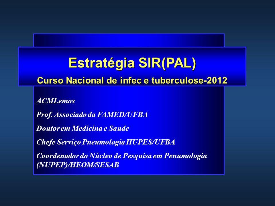 Estratégia SIR(PAL) Curso Nacional de infec e tuberculose-2012 ACMLemos Prof.