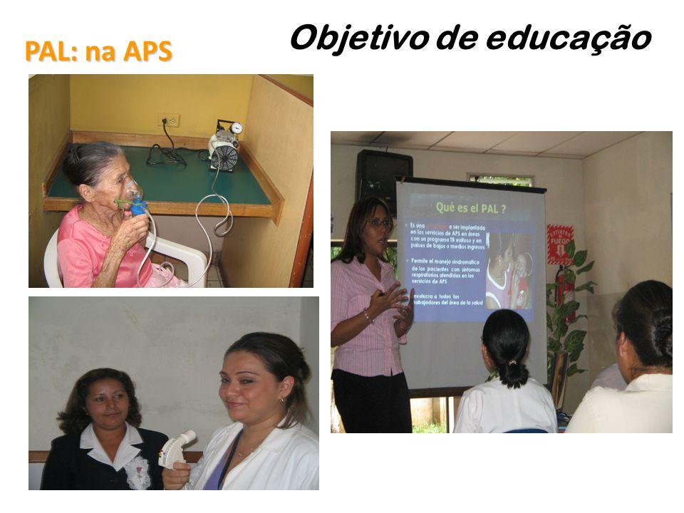 PAL: na APS Objetivo de educação