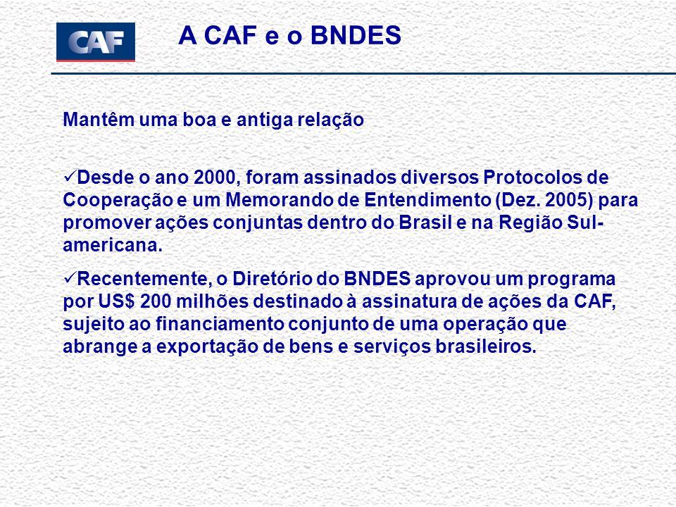 A CAF tem flexibilidade para interagir com os setores de risco soberano, misto e privado O interesse da CAF é de que as transações se concretizem, as obras se executem A agilidade da CAF foi demonstrada com freqüência Finalmente