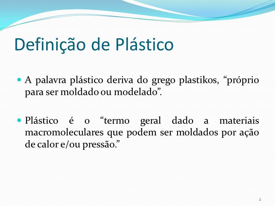 Definição de Plástico A palavra plástico deriva do grego plastikos, próprio para ser moldado ou modelado. Plástico é o termo geral dado a materiais ma