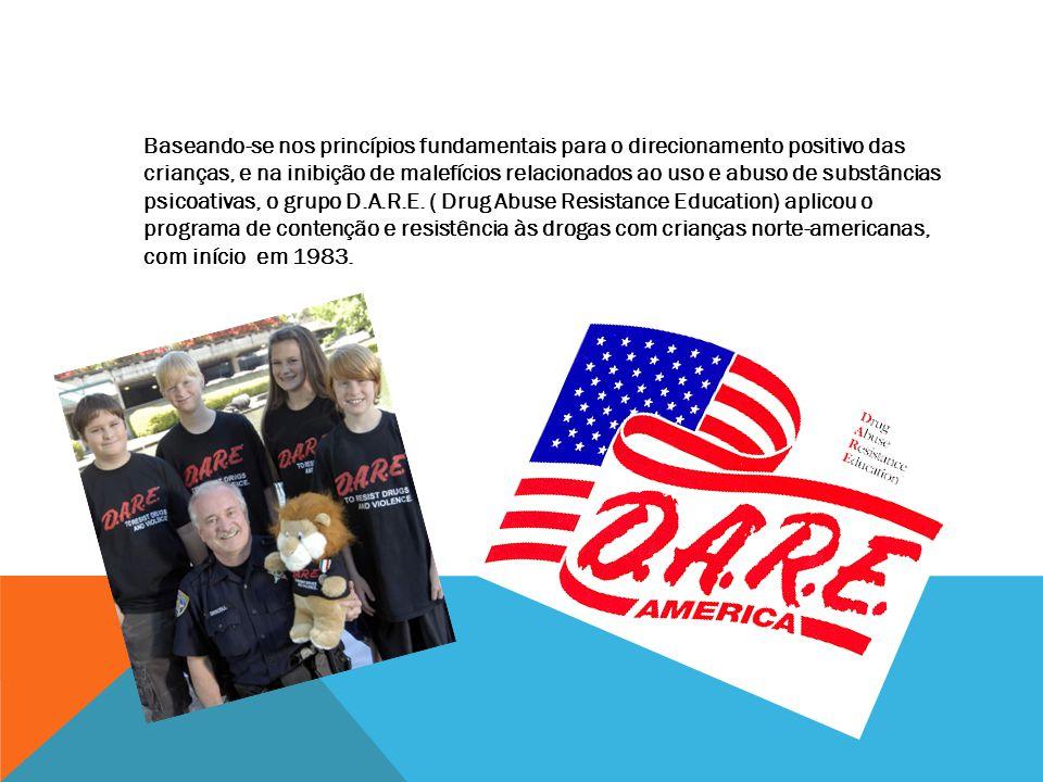 O Governo brasileiro, por intermédio da Polícia Militar Brasileira absorveu o modelo do programa D.A.R.E.