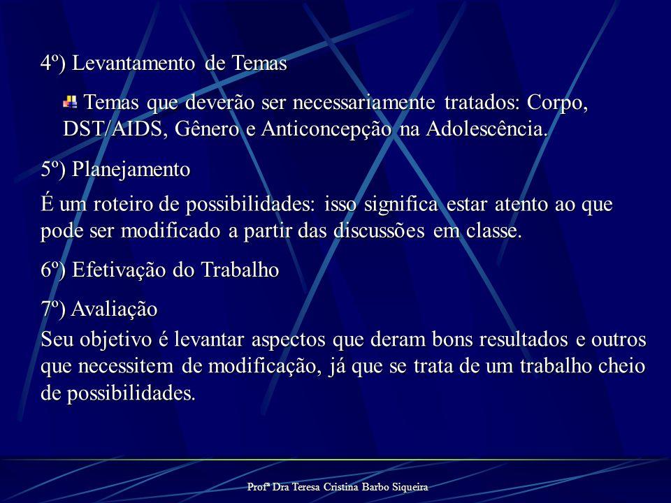 Profª Dra Teresa Cristina Barbo Siqueira Grupo de Orientação Sexual 1º) Seleção de alunos interessados em participar. 2º) Ter momento de integração en