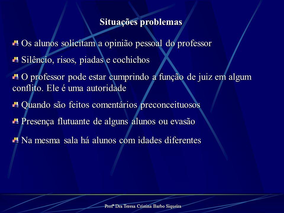 Profª Dra Teresa Cristina Barbo Siqueira 4º) Levantamento de Temas Temas que deverão ser necessariamente tratados: Corpo, DST/AIDS, Gênero e Anticonce