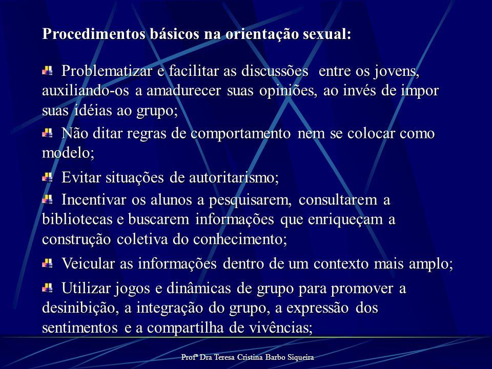 Profª Dra Teresa Cristina Barbo Siqueira DIÁLOGO REFLEXÃO Desenvolvimento Emocional e Sexual Organização da Identidade do Adolescente