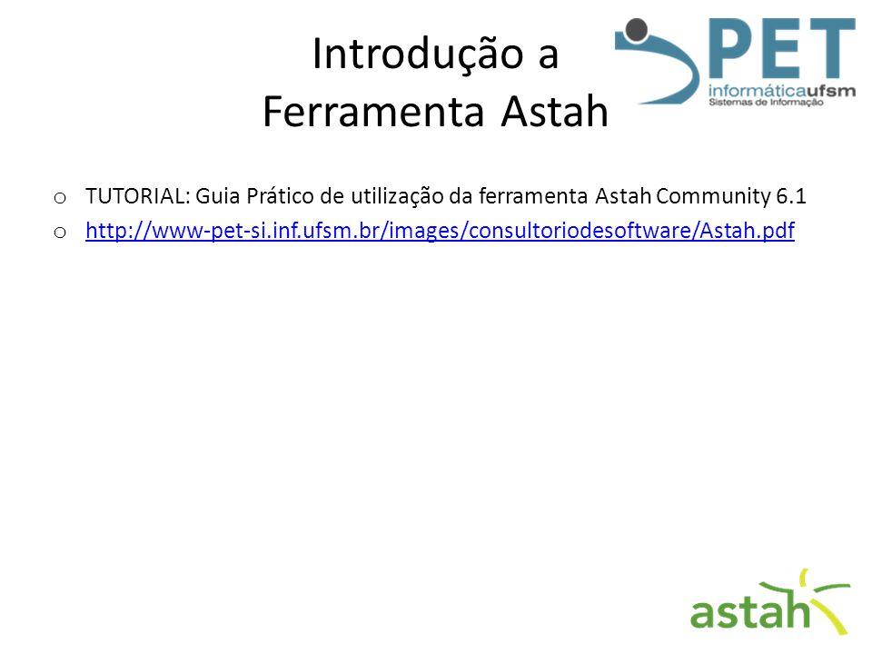 Introdução a Ferramenta Astah o TUTORIAL: Guia Prático de utilização da ferramenta Astah Community 6.1 o http://www-pet-si.inf.ufsm.br/images/consulto