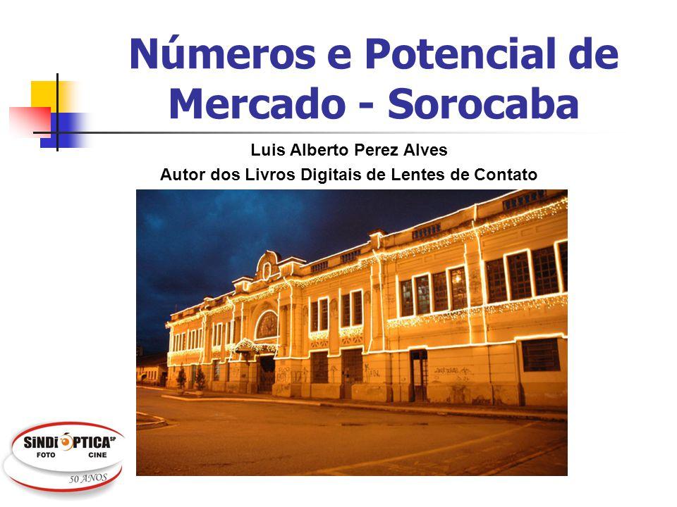 Cidade de Sorocaba Sede da região administrativa Sudoeste do Estado de São Paulo (79 municipios); A região soma 2,2 milhões de hab.