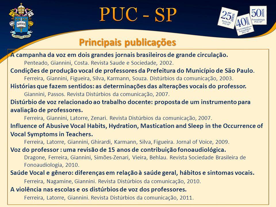 A campanha da voz em dois grandes jornais brasileiros de grande circulação.