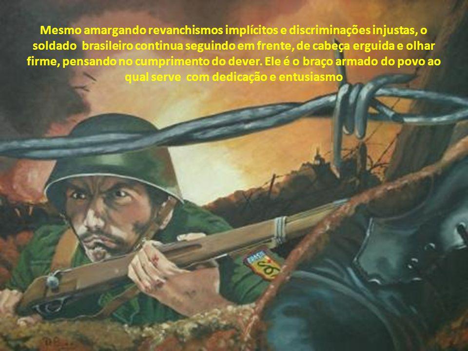 Este trabalho é um reconhecimento às virtudes militares e uma homenagem a todos os soldados, cuja missão é defender o seu país.