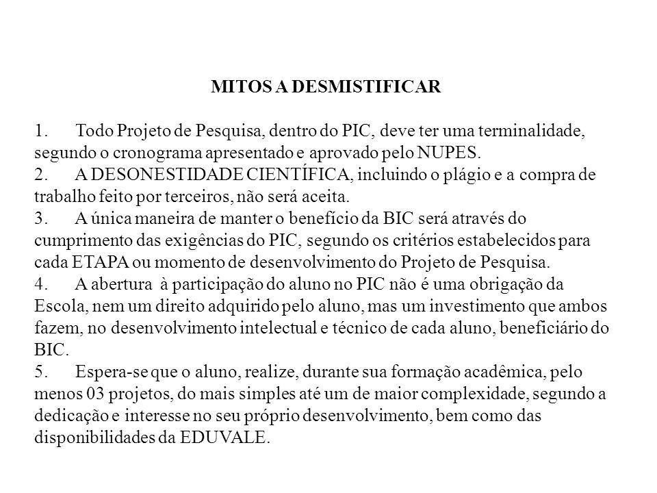 MITOS A DESMISTIFICAR 1.
