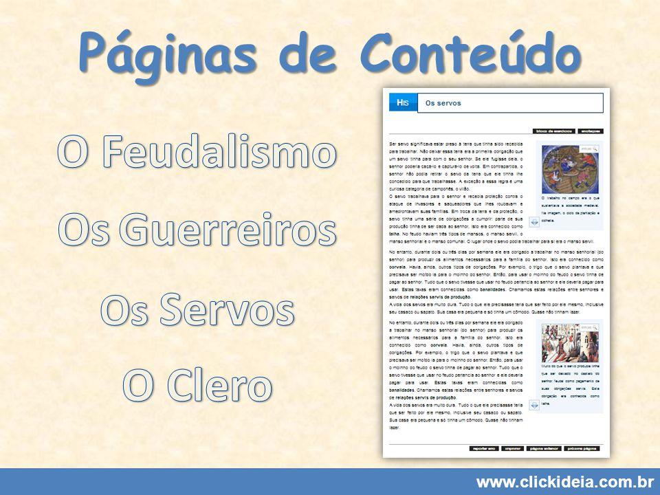Páginas de Conteúdo www.clickideia.com.br