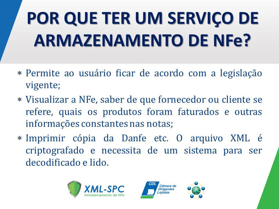 Permite ao usuário ficar de acordo com a legislação vigente; Visualizar a NFe, saber de que fornecedor ou cliente se refere, quais os produtos foram f