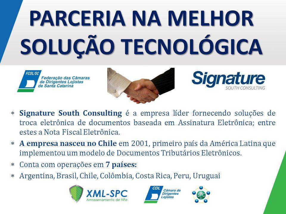 Signature South Consulting é a empresa líder fornecendo soluções de troca eletrônica de documentos baseada em Assinatura Eletrônica; entre estes a Not